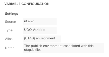 udo variable
